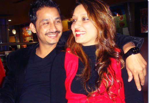 Rose Rana with his fashion designer wife Upama KC in 2012.